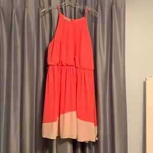 Maurices coral knee length dress